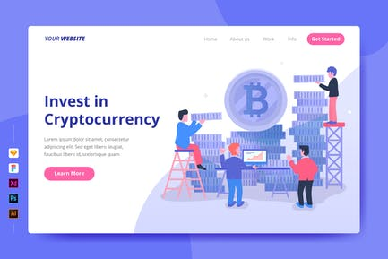 Invest in Cryptocurrency - Landing Page