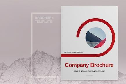 Red Company Profile Brochure Template