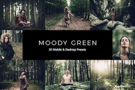 20 Moody Green Lightroom Presets & LUTs