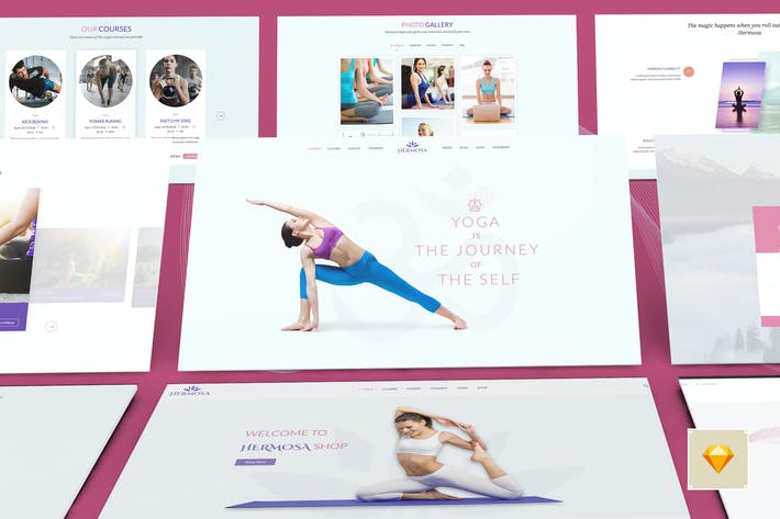 Thumbnail for Hermosa -  Health Beauty & Yoga Sketch Template
