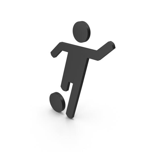 Спортивный футбол значок