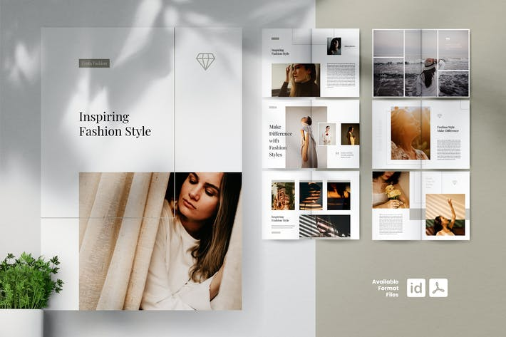 Thumbnail for EYOTA Minimal Fashion Lookbook Folletos