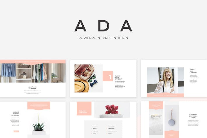 Thumbnail for Ada PowerPoint Presentation Template