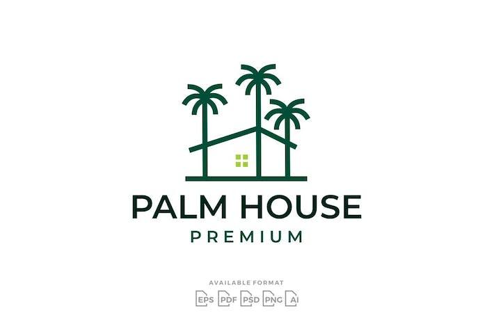 Palm House Tree Logo