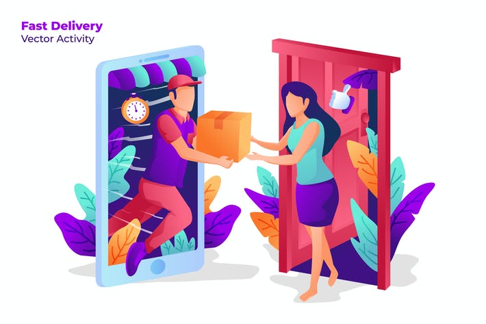 Thumbnail for Fast Delivery - Vector Illustration