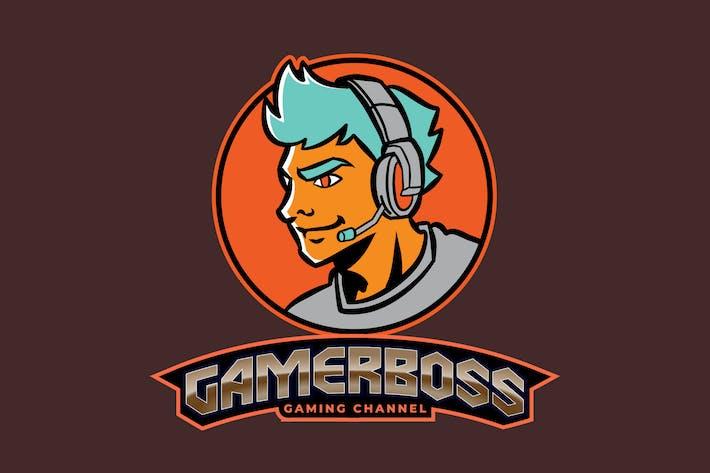 Thumbnail for Male Gamer or Streamer E-Sport Gaming Logo Vol 1