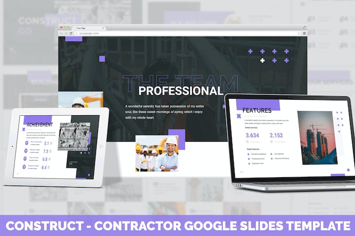 Construct - Contractor Google Slides Template