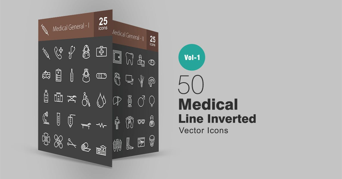 Download 50 Medical Line Inverted Icons by IconBunny