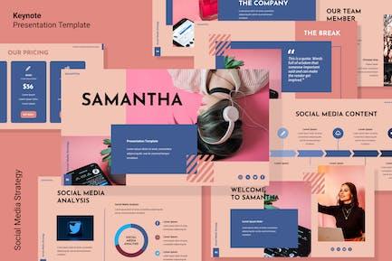 Шаблон Keynote стратегии социальных сетей