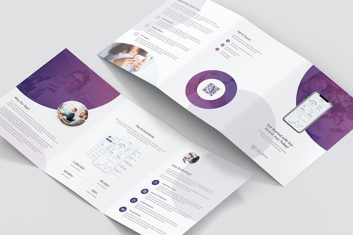 Thumbnail for Brochure – Creative App Tri-Fold A5