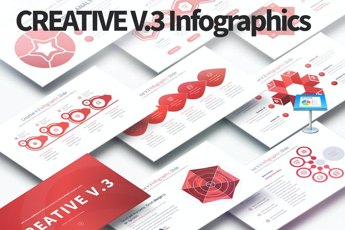 Thumbnail for Creative V.3 - Keynote Infographics Slides