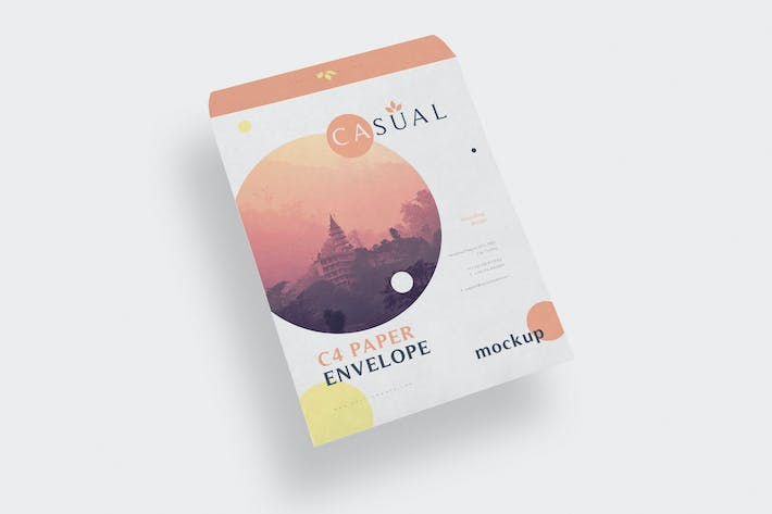 Thumbnail for C4 Envelope Mockups