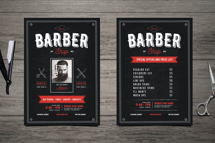Barber Shop Flyer By Guuver On Envato Elements