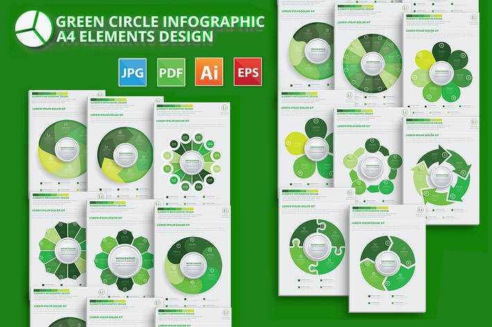 Thumbnail for Green Circle Infographic Design