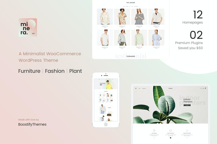 Cover Image For Minera - Minimalist WooCommerce WordPress Theme