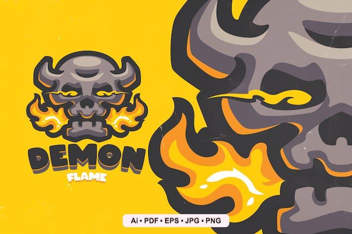 Thumbnail for Demon Flame Mascot Logo Template