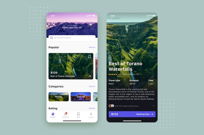 Thumbnail for Travel mobile UI Concept