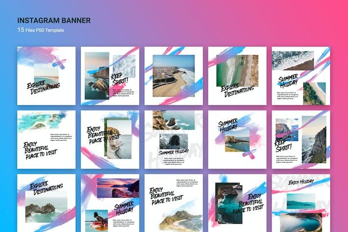 Thumbnail for Brush Instagram Banners Travel