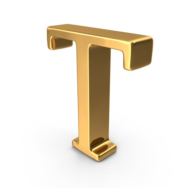 Gold Capital Letter T