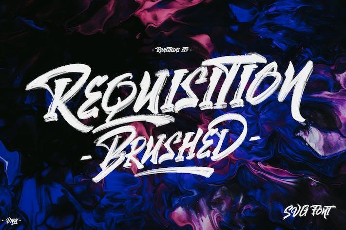 Thumbnail for Requisition - SVG Brush Font VW