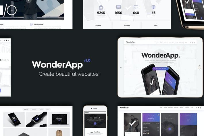 Thumbnail for WonderApp | Responsive Multi-Purpose Landing Page