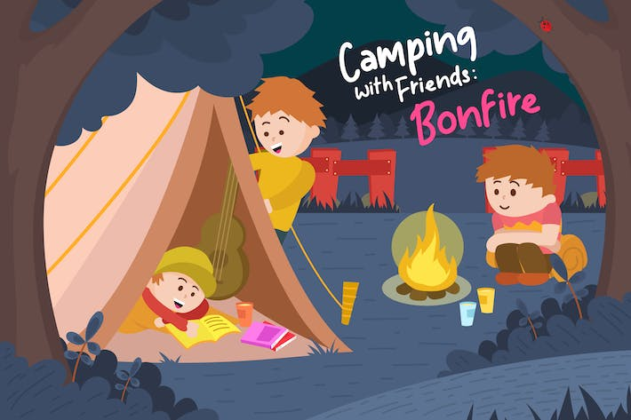 Thumbnail for Bonfire - Vector Illustration