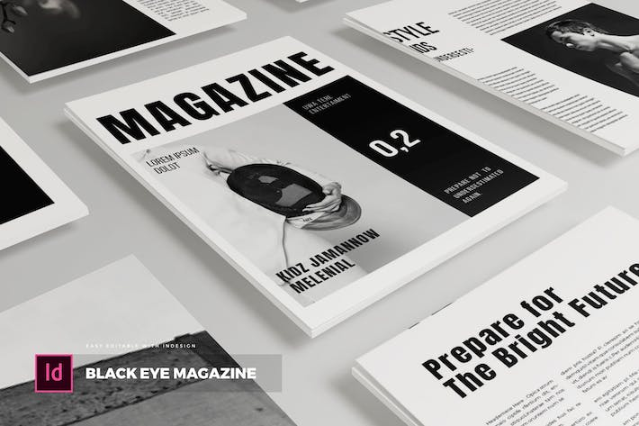 Thumbnail for Black Eye | Magazine Template