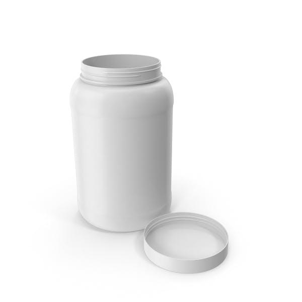 Пластиковая бутылка Широкий рот 1,5 галлон Белый открытая крышка укладка