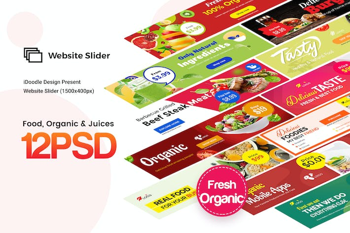 Thumbnail for Food, Organic & Juices Website Slider