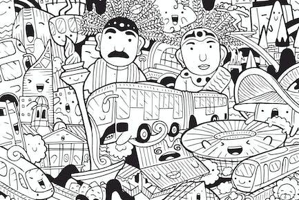Jakarta Doodle