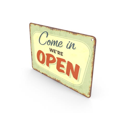 Vintage Open-Closed-Schild