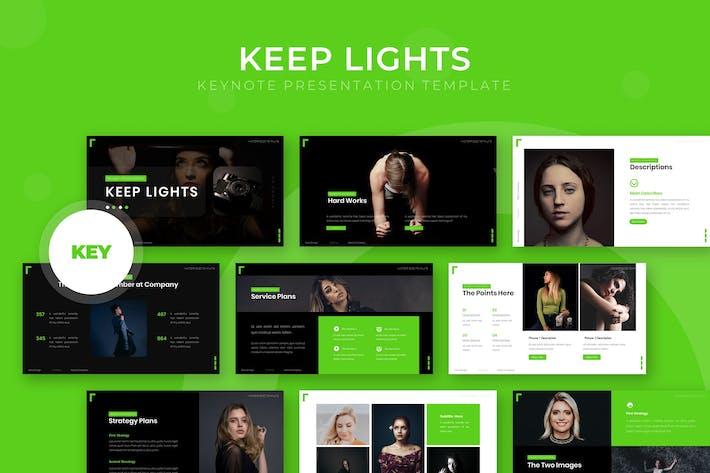 Thumbnail for Licht halten - Keynote Vorlage