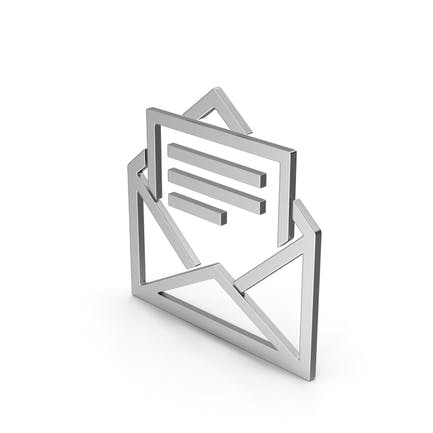 Symbol Letter With Paper Silver