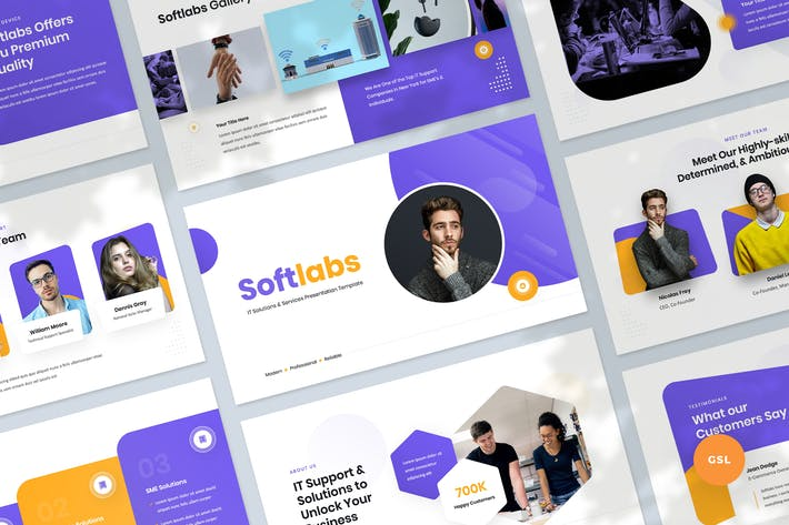 Thumbnail for IT Solutions & Services Slides Template