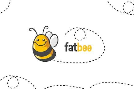 Cartoon Cute Bee Logo