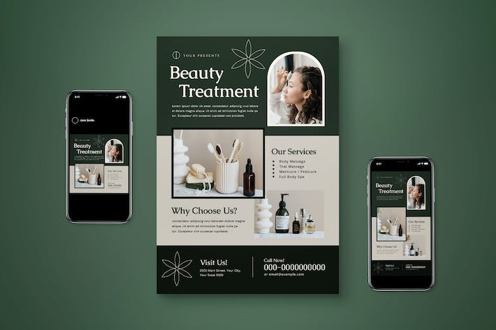 Beauty Treatment Flyer Set