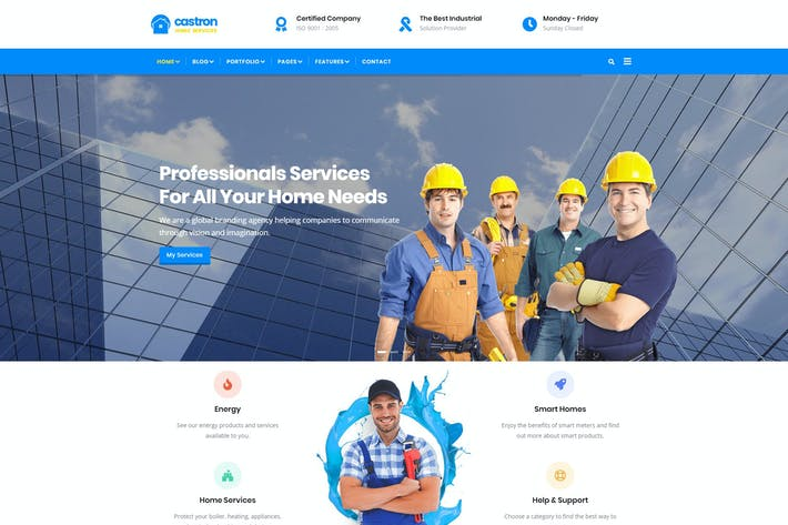 Thumbnail for Castron - Home Maintenance Drupal 8 Theme