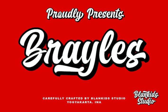 Thumbnail for Brayles Bold Script