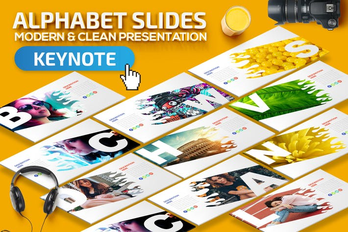 Thumbnail for Alphabet Keynote Presentation Template