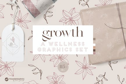 Growth A Wellness Graphics Set