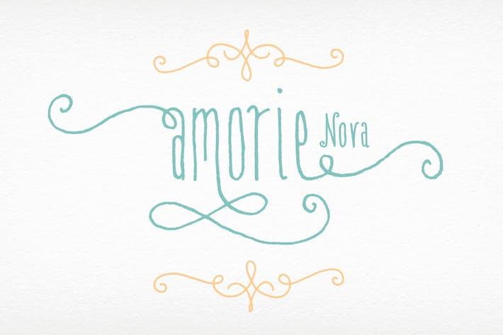 Thumbnail for Amorie Nova Font Family