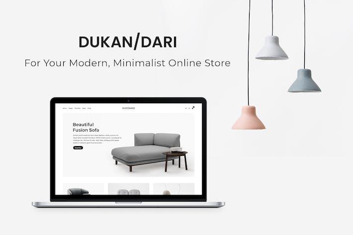 Thumbnail for Dukandari - Ein modernes, minimalistisches E-Commerce-Thema