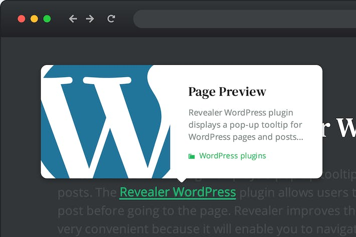 Thumbnail for Page preview plugin for WordPress