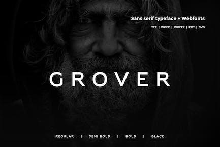 Grover - Moderno Typeface + WebFont