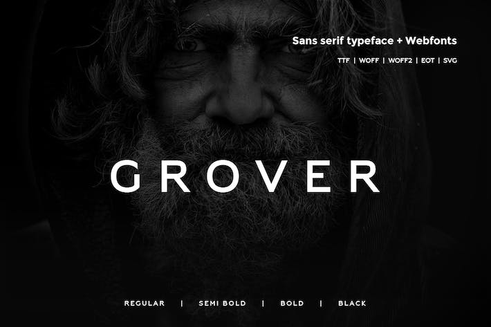 Thumbnail for Grover - Moderno Typeface + WebFont