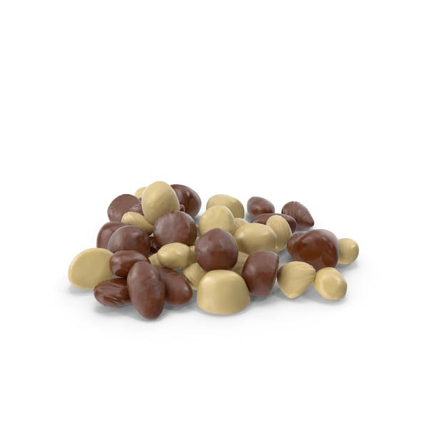 Small Pile of Mixed Almond Chocolate Candy