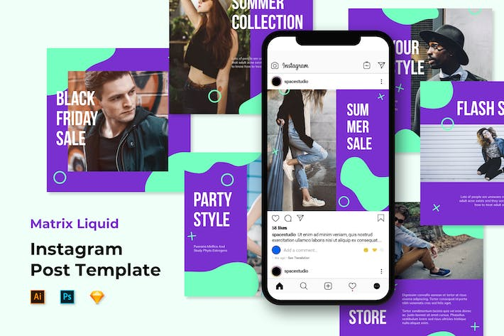 Thumbnail for Instagram Templates