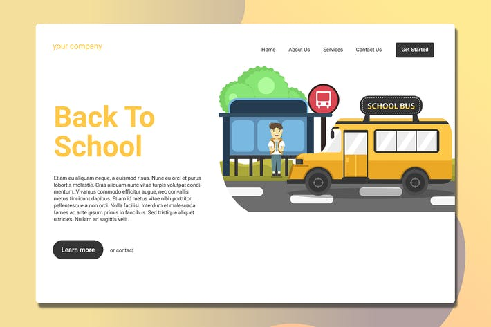 Thumbnail for School Bus - Landing Page
