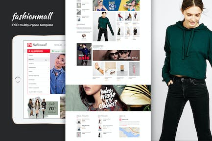 Fashion Mall eCommerce Website PSD Template