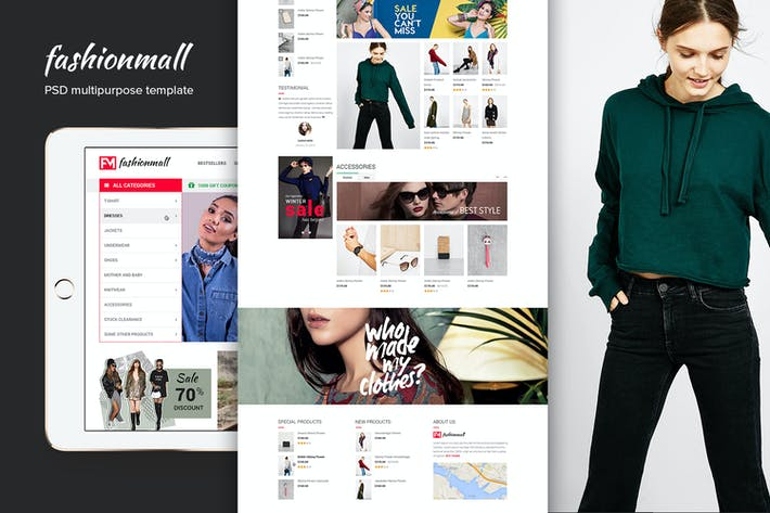 Thumbnail for Fashion Mall eCommerce Website PSD Template